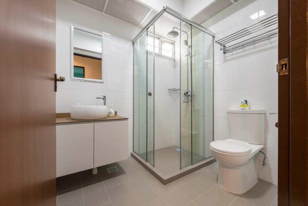 Scandinavian, HDB, Bathroom, Canberra Street, Interior Designer, Urban Home Design 二本設計家, Contemporary