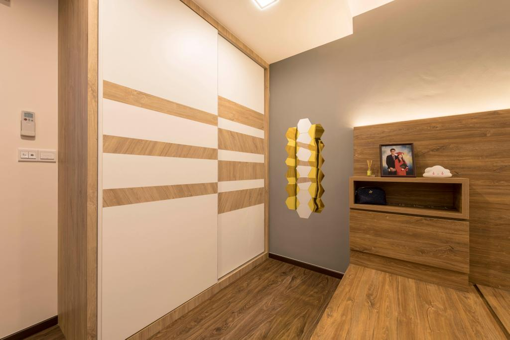 Scandinavian, HDB, Bedroom, Canberra Street, Interior Designer, Urban Home Design 二本設計家, Contemporary