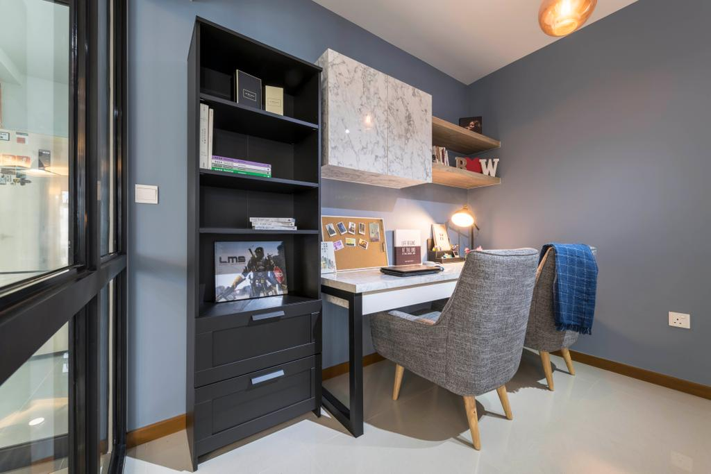 Contemporary, HDB, Study, Sumang Walk, Interior Designer, Urban Home Design 二本設計家