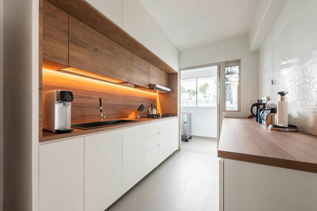 Contemporary, HDB, Kitchen, Sumang Walk, Interior Designer, Urban Home Design 二本設計家