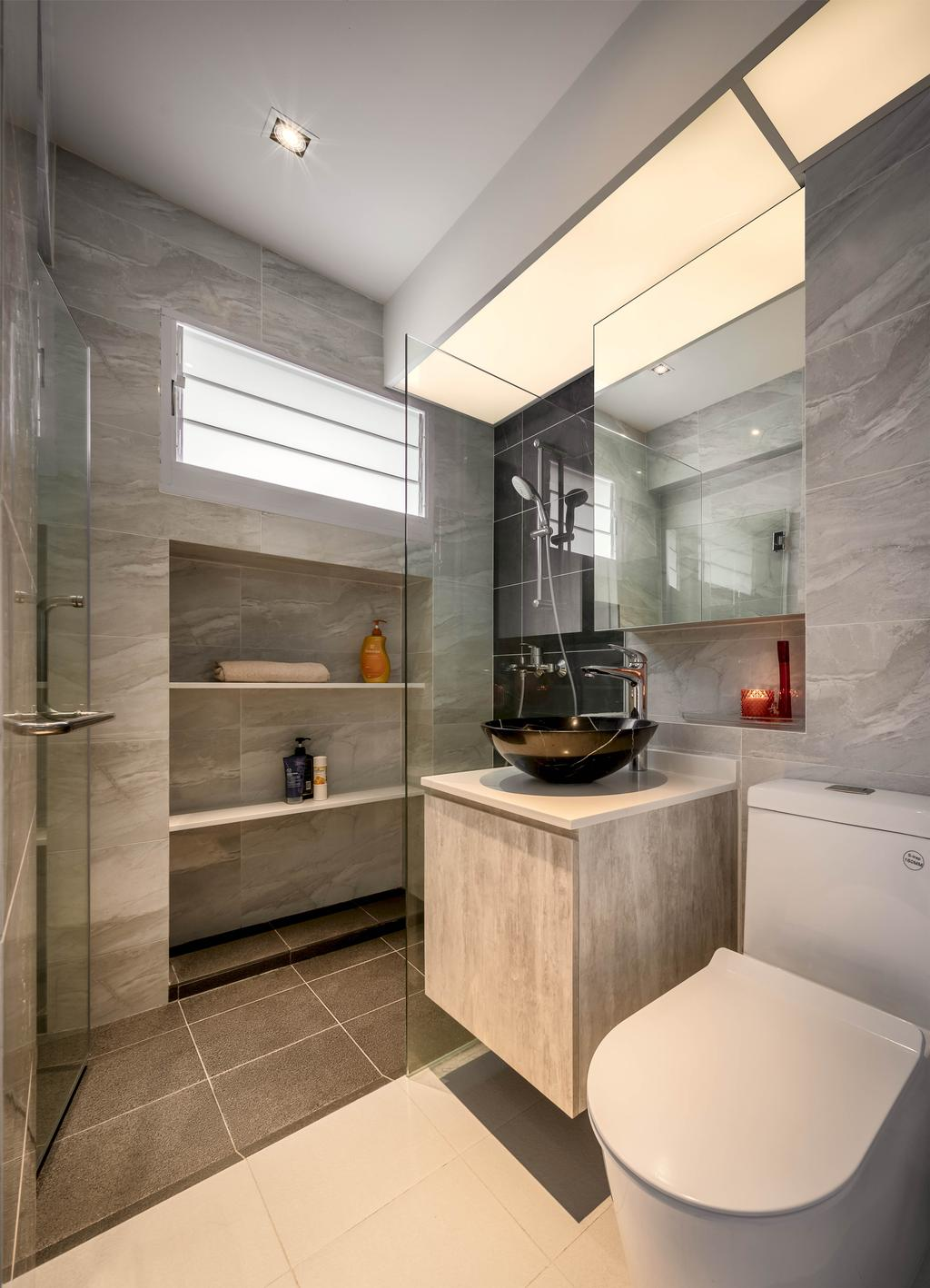 Contemporary, HDB, Bathroom, Elias Road, Interior Designer, Zenith Arc