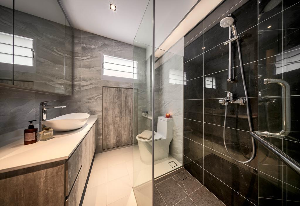 Contemporary, HDB, Bathroom, Elias Road, Interior Designer, Zenith Arc