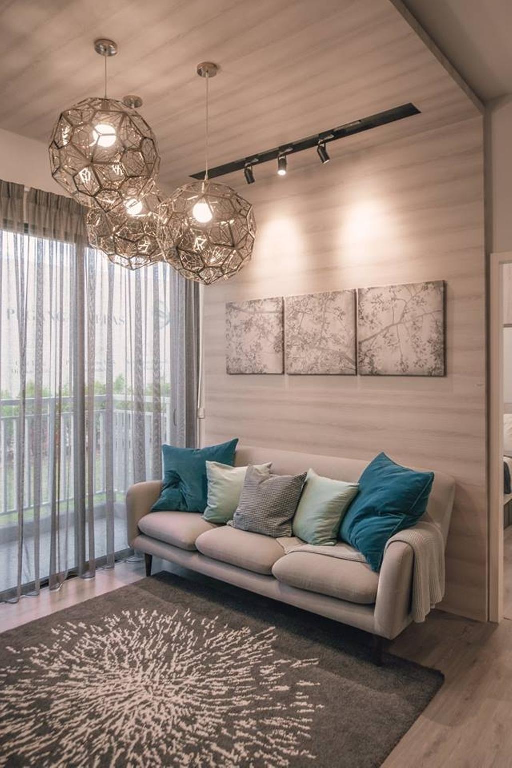 Modern, Condo, Living Room, Antara Residence, Putrajaya, Interior Designer, EDI: Essential Design Integrated, Contemporary