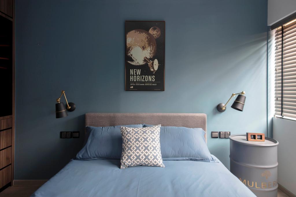 Contemporary, HDB, Bedroom, Mei Ling Street, Interior Designer, KDOT