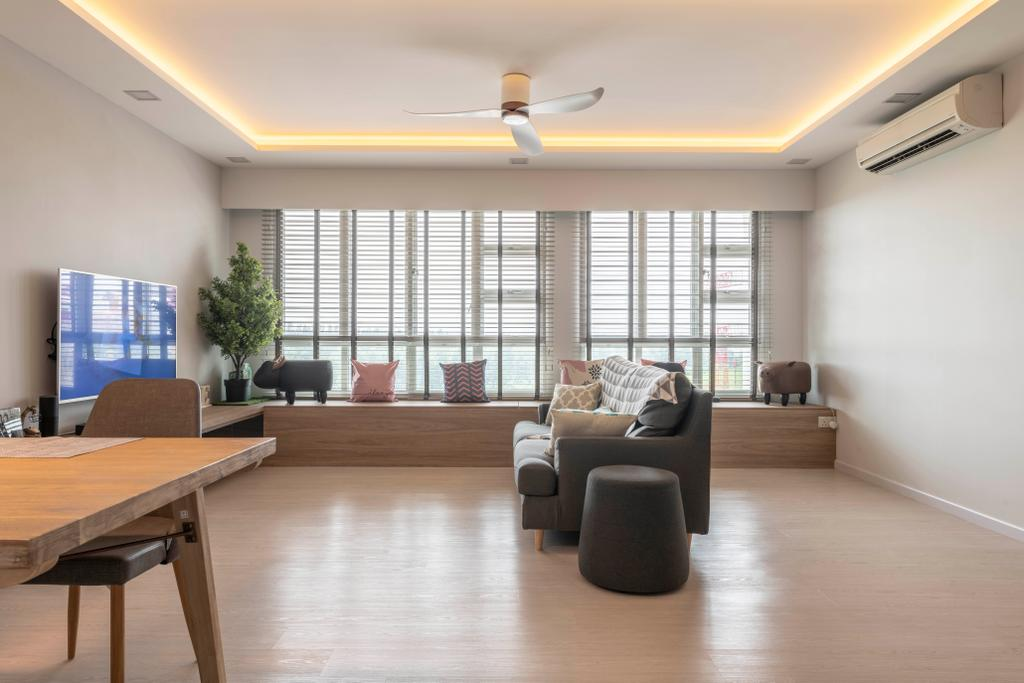 Contemporary, HDB, Living Room, Sumang Lane, Interior Designer, Fifth Avenue Interior