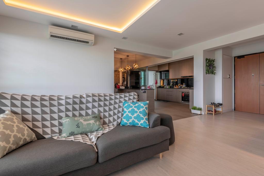 Contemporary, HDB, Living Room, Sumang Lane, Interior Designer, Fifth Avenue Interior