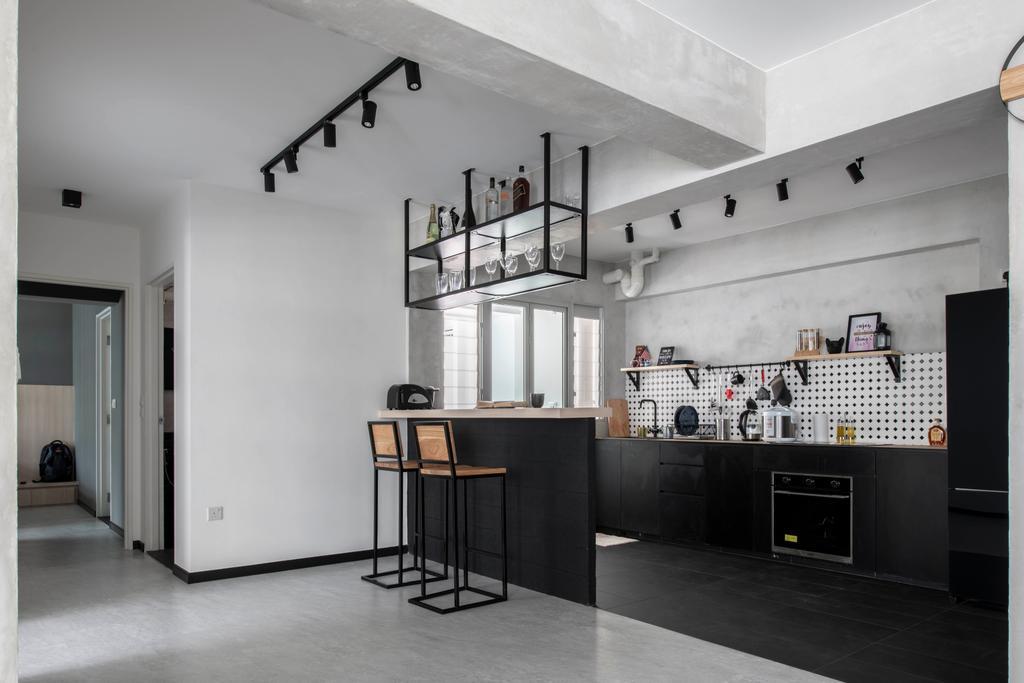 Contemporary, HDB, Dining Room, Yishun Ring Road, Interior Designer, Fifth Avenue Interior, Industrial