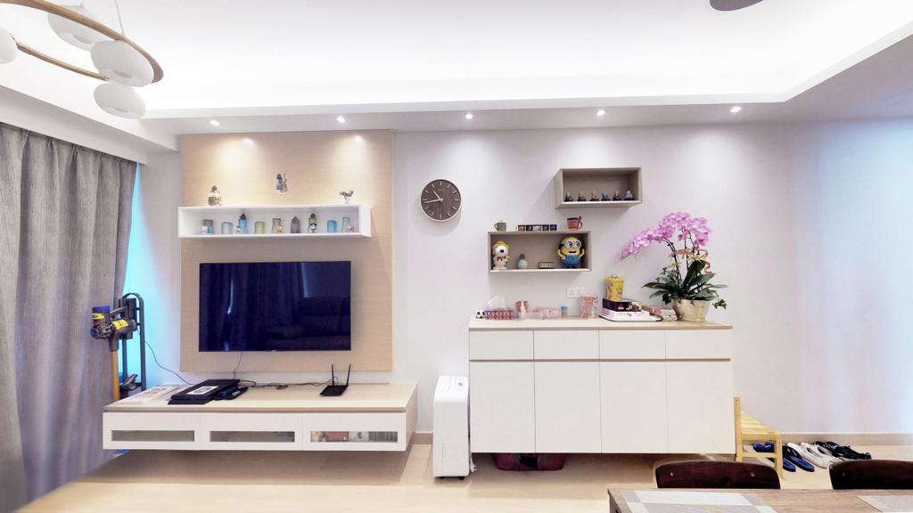 私家樓, 客廳, Capri, 室內設計師, 爾雋設計