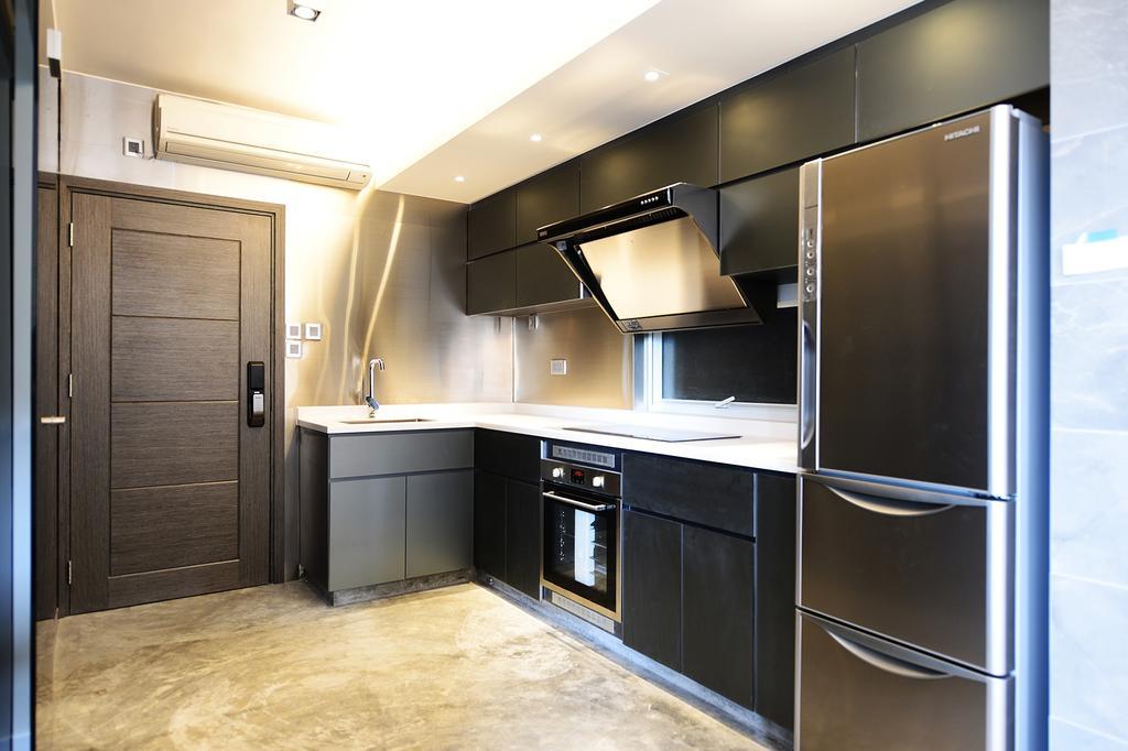 私家樓, 廚房, 健威花園, 室內設計師, 爾雋設計