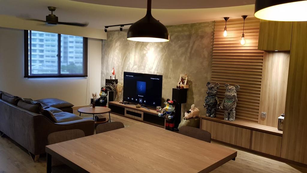 Contemporary, HDB, Living Room, Punggol Waterway Terraces, Interior Designer, Inizio Atelier