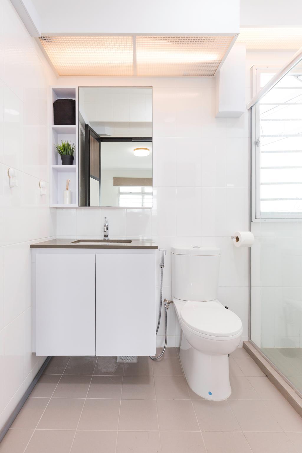 Minimalistic, HDB, Bathroom, Bukit Batok East, Interior Designer, Charlotte's Carpentry