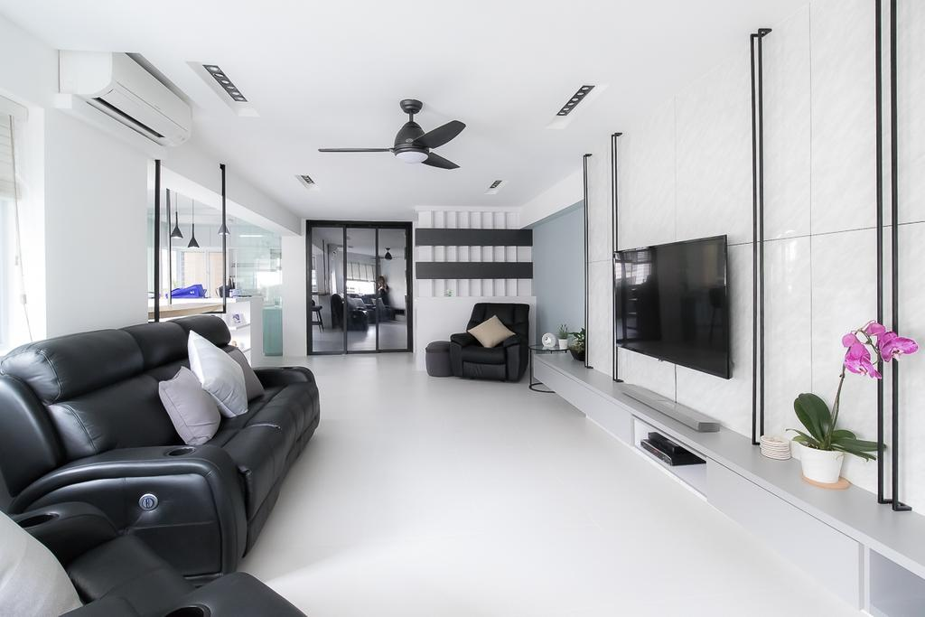 Contemporary, HDB, Living Room, Woodlands Avenue 5, Interior Designer, Style Living Interior