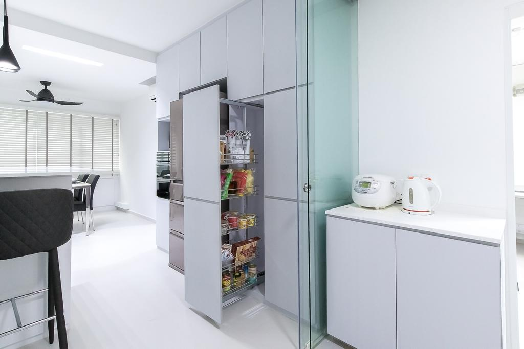 Contemporary, HDB, Kitchen, Woodlands Avenue 5, Interior Designer, Style Living Interior
