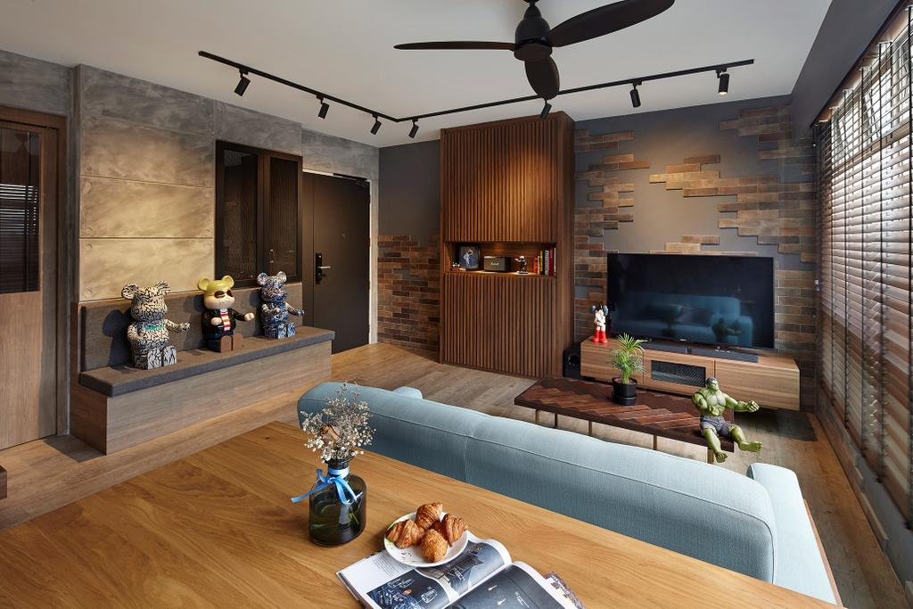 HDB, Living Room, Bukit Batok (Block 293B), Interior Designer, Notion of W