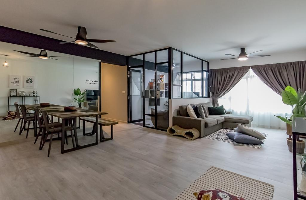 Contemporary, HDB, Living Room, Bukit Batok West Avenue 6, Interior Designer, Style Living Interior