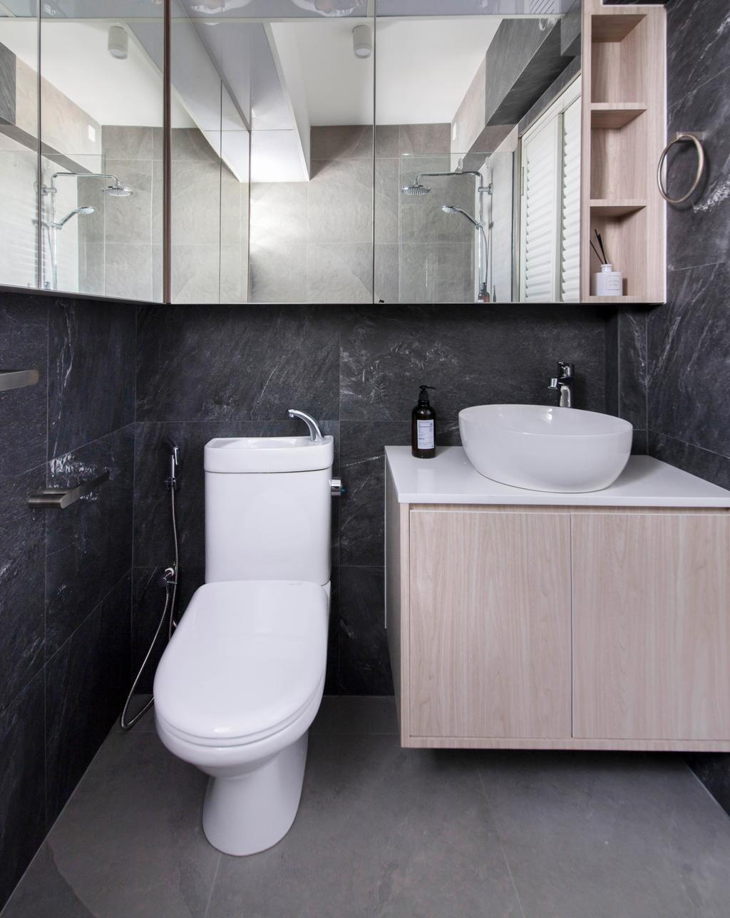 Contemporary, HDB, Bathroom, Sumang Walk, Interior Designer, KDOT, Minimalistic