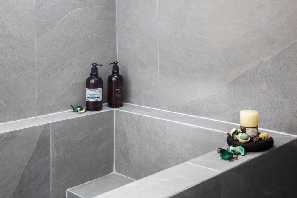 Contemporary, HDB, Bathroom, Sumang Walk, Interior Designer, KDOT, Minimalistic, Sunken Bath, Bath Tub, Bathtub