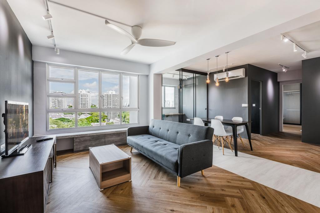 Contemporary, HDB, Living Room, Lorong 1 Toa Payoh, Interior Designer, DSOD Interior