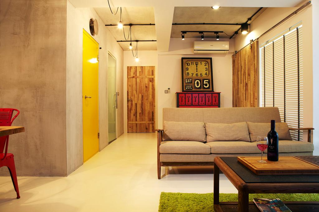 Industrial, HDB, Living Room, Punggol Way, Interior Designer, DSOD Interior, Contemporary