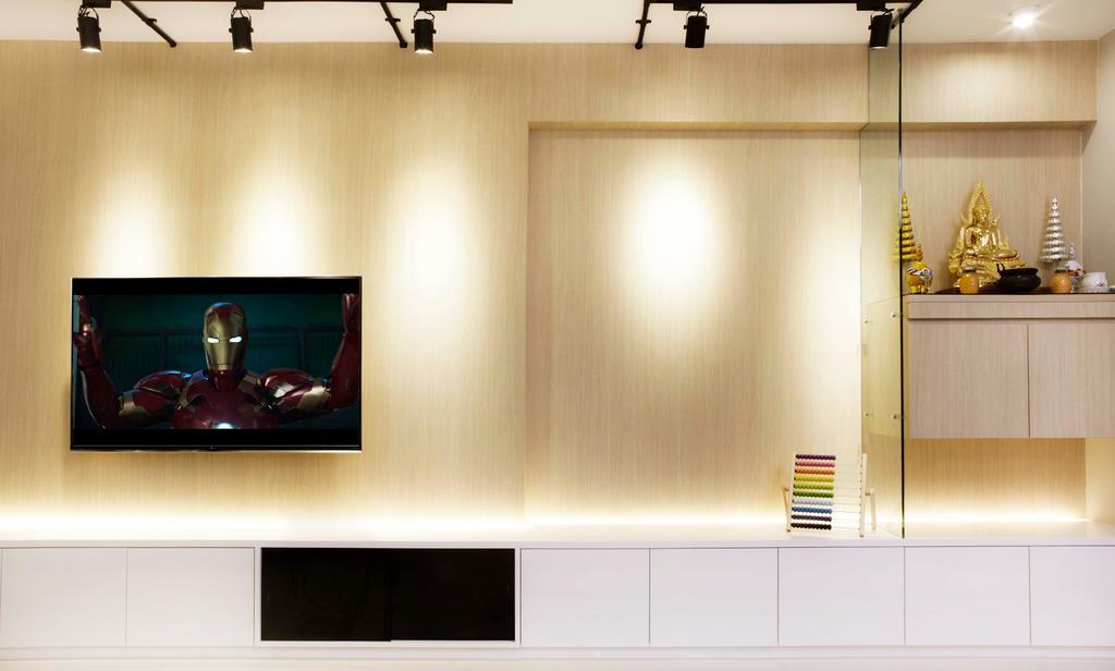 Contemporary, HDB, Living Room, Upper Serangoon Crescent, Interior Designer, DSOD Interior