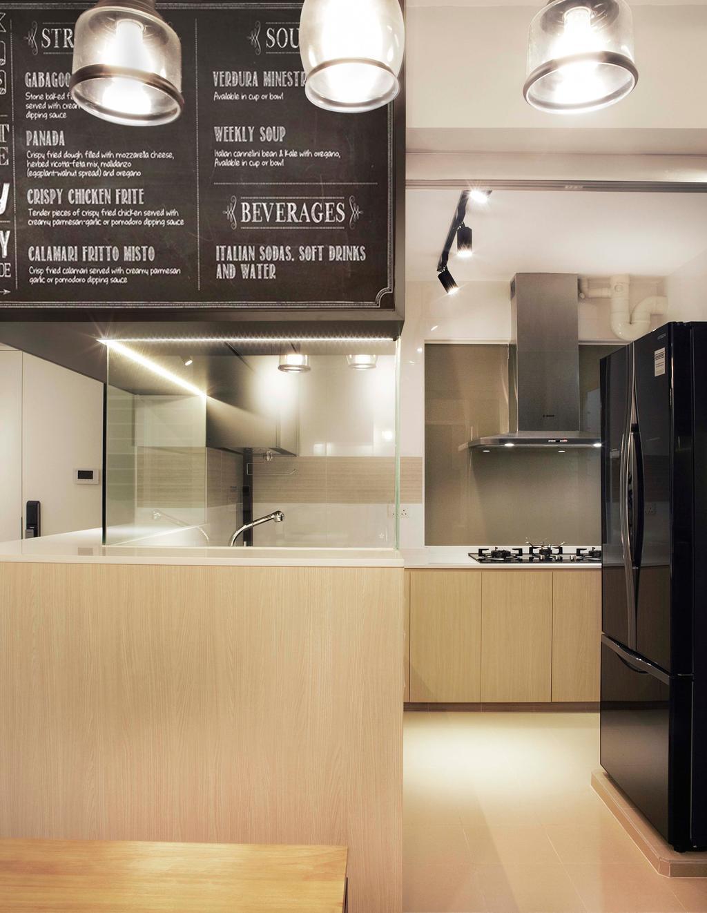 Contemporary, HDB, Kitchen, Upper Serangoon Crescent, Interior Designer, DSOD Interior
