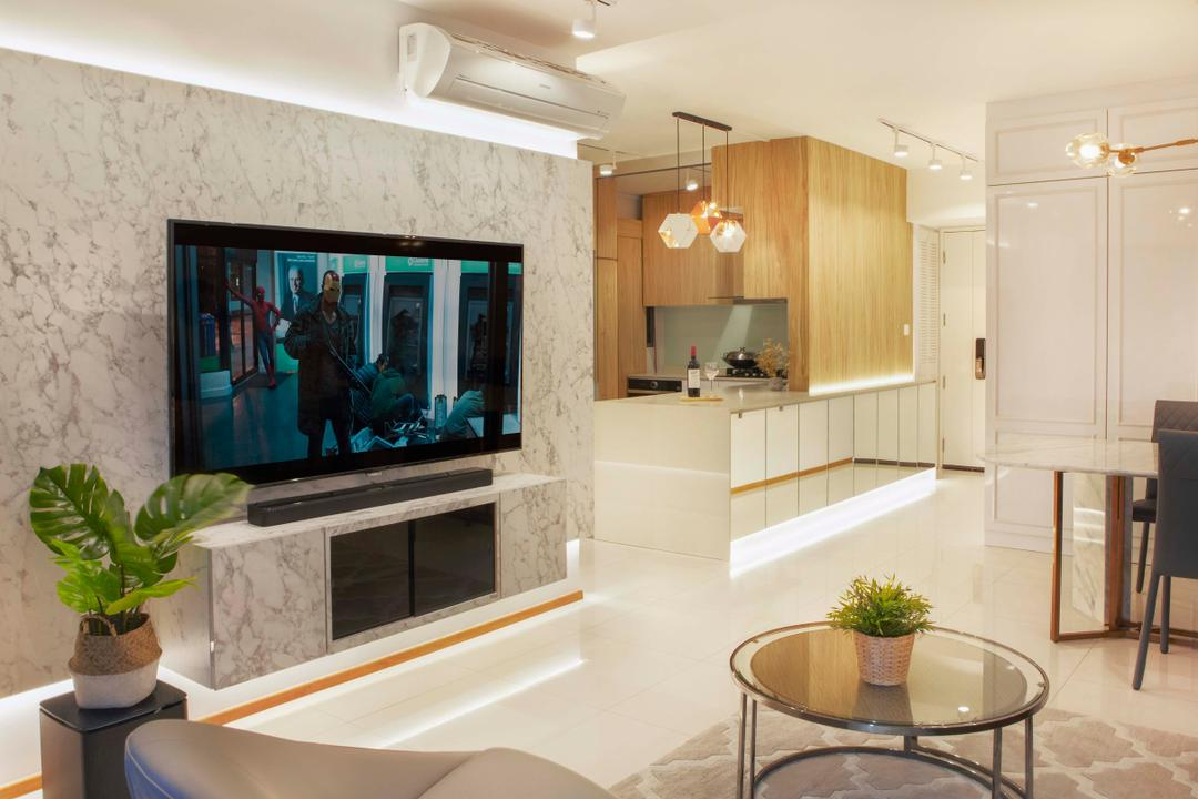 The Pinnacle @ Duxton Living Room Interior Design 2
