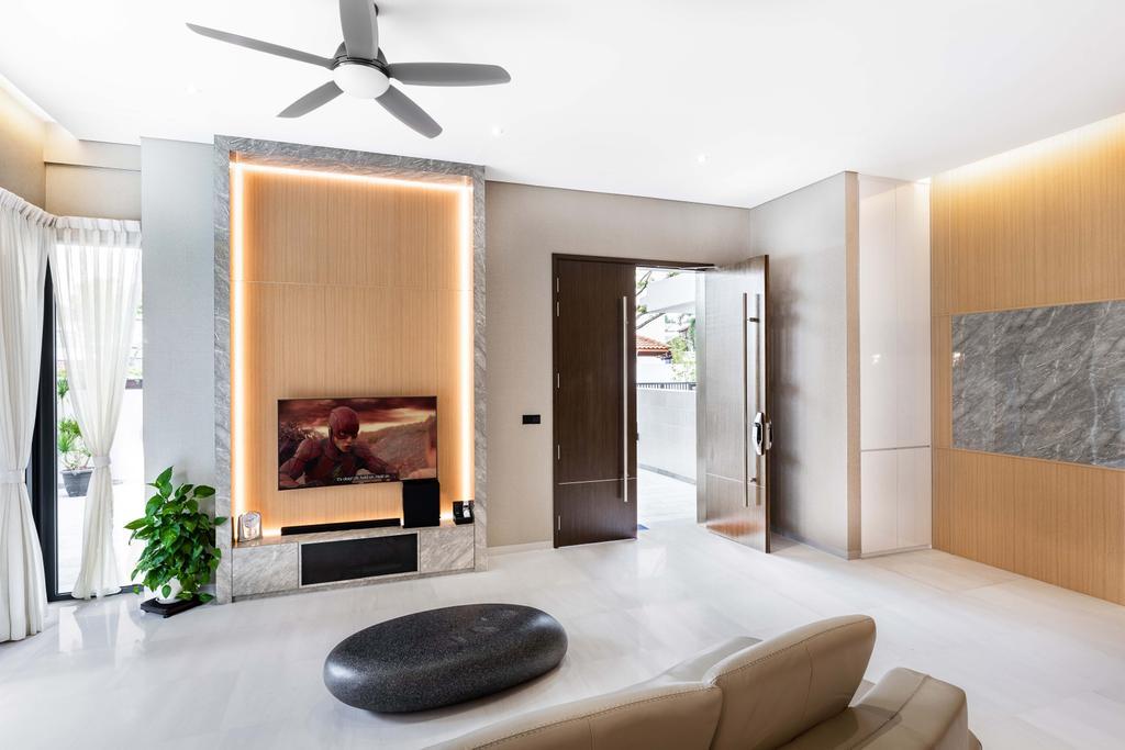 Contemporary, Landed, Living Room, Begonia Drive, Interior Designer, DSOD Interior