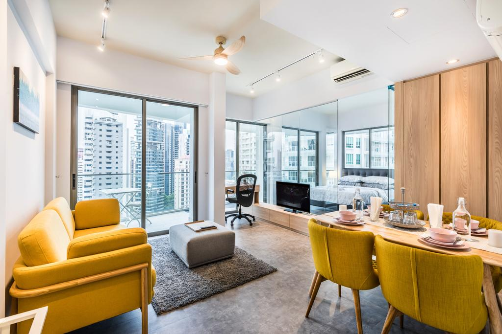 Contemporary, Condo, Living Room, Espada, Interior Designer, DSOD Interior