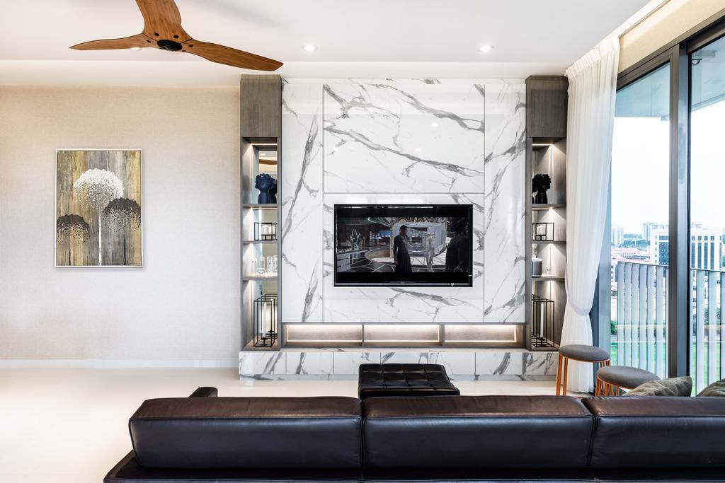 Contemporary, Condo, Living Room, Sky Habitat, Interior Designer, DSOD Interior