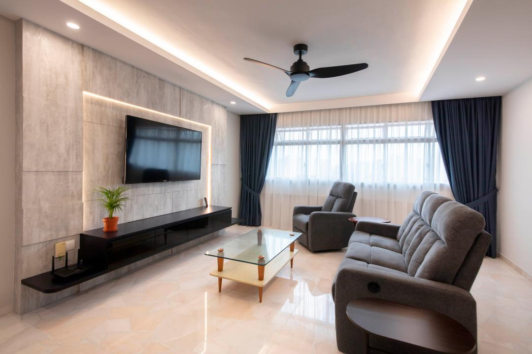 Pasir Ris Street 71 Living Room Interior Design 11