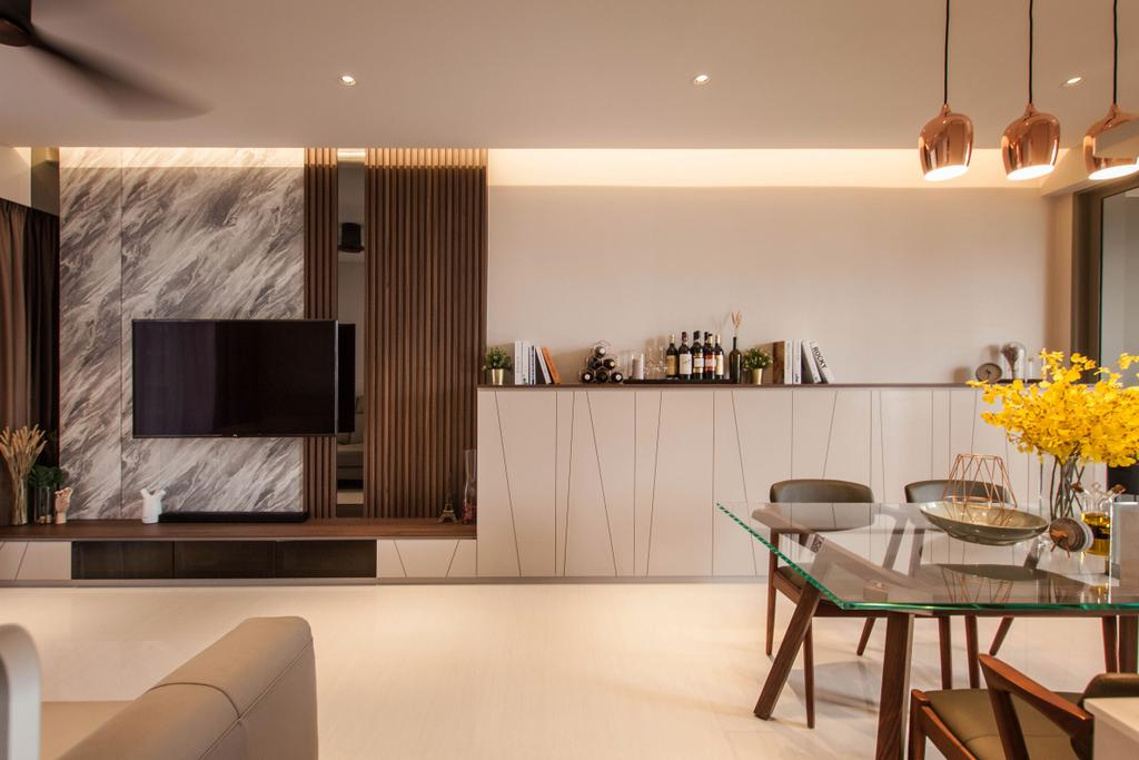 Contemporary, Condo, Living Room, Sol Acres, Interior Designer, Space Atelier