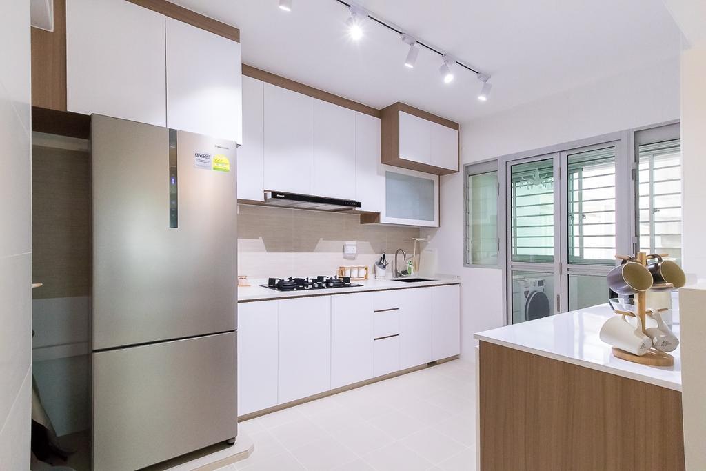 Contemporary, HDB, Kitchen, Canberra Walk, Interior Designer, Style Living Interior