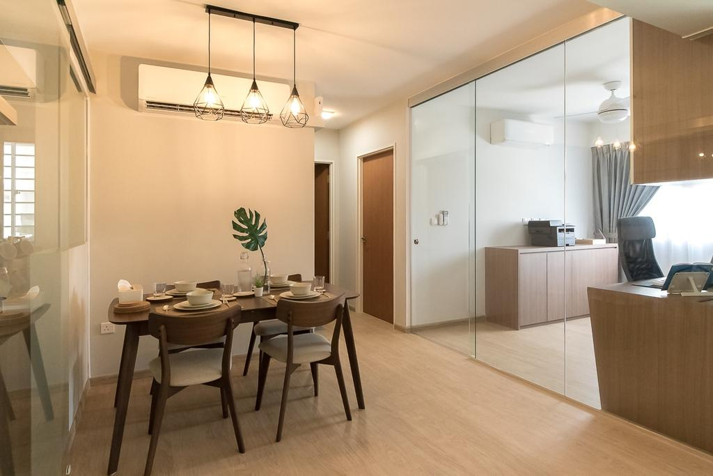 Contemporary, HDB, Dining Room, Canberra Walk, Interior Designer, Style Living Interior