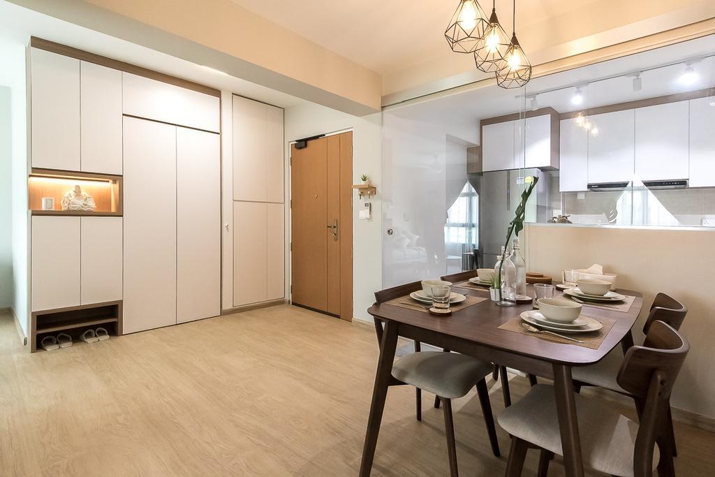 Contemporary, HDB, Canberra Walk, Interior Designer, Style Living Interior