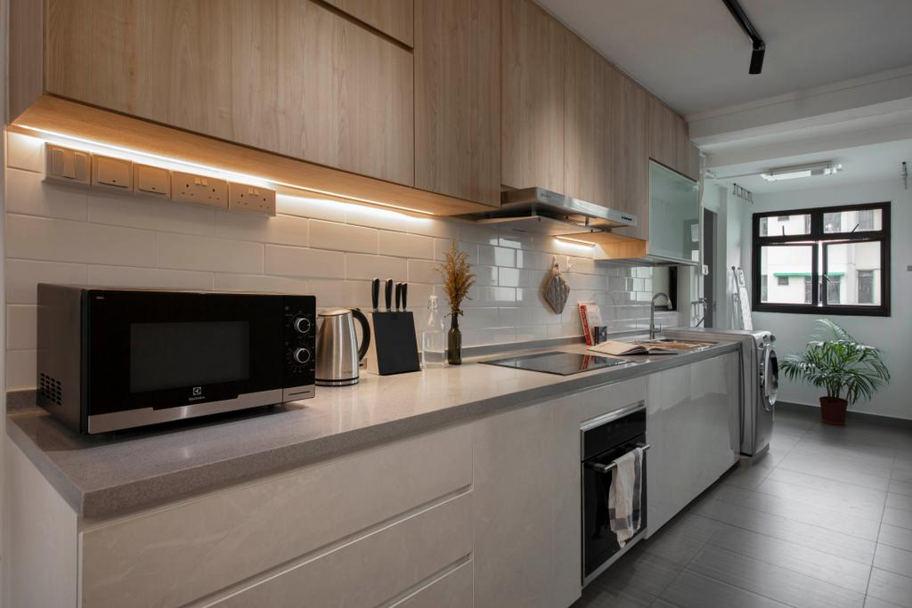 Contemporary, HDB, Kitchen, Commonwealth Close, Interior Designer, Willis Design, Scandinavian