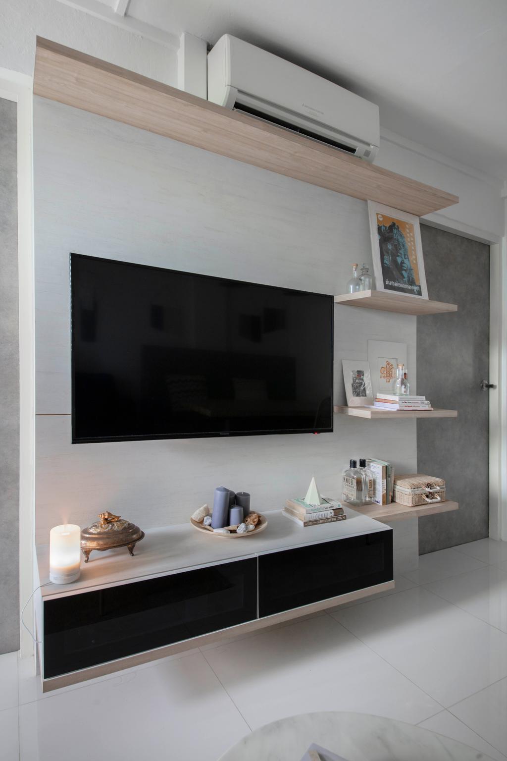 Contemporary, HDB, Living Room, Commonwealth Close, Interior Designer, Willis Design, Scandinavian