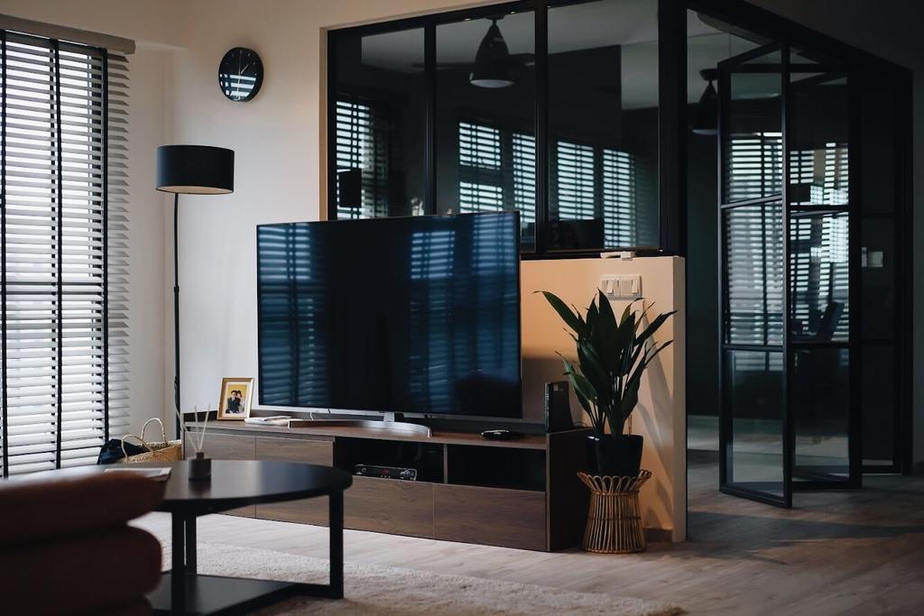Contemporary, HDB, Living Room, Punggol East, Interior Designer, Authors • Interior & Styling, Industrial