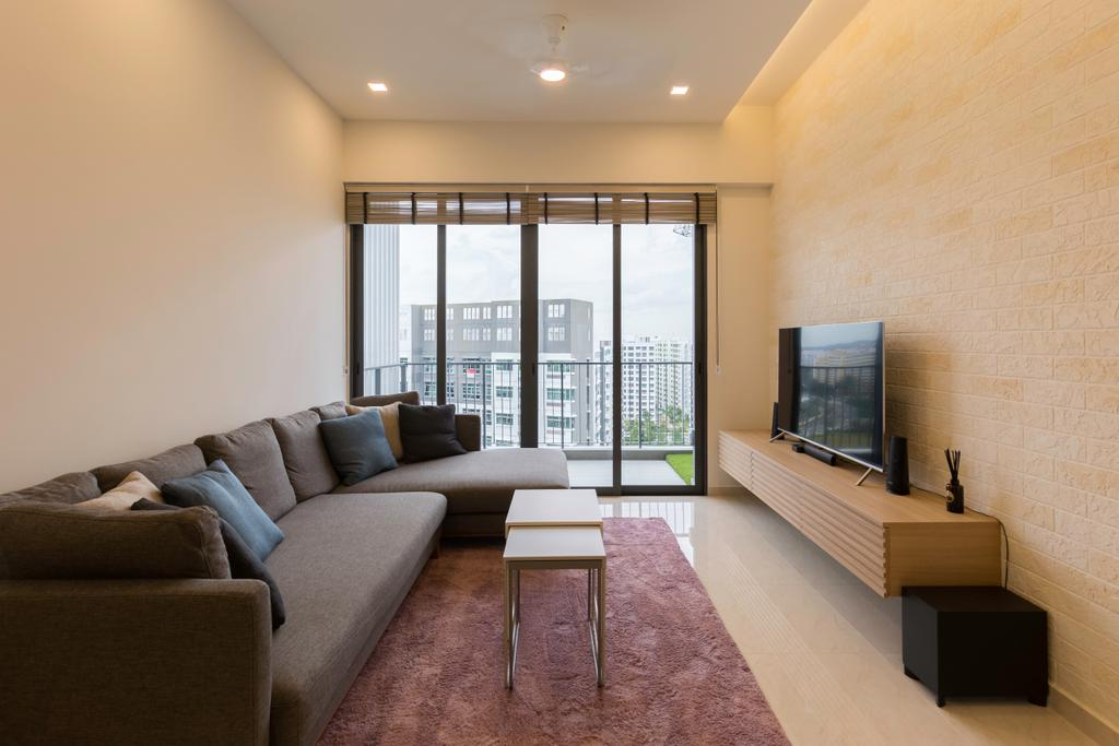 Contemporary, Condo, Living Room, Signature, Interior Designer, Charlotte's Carpentry