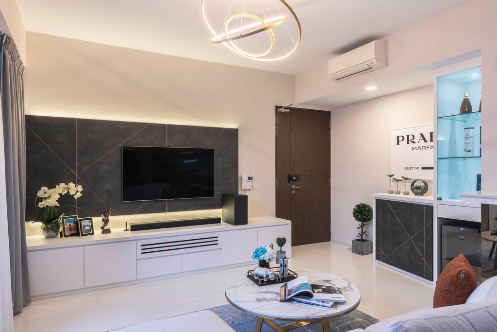 Contemporary, Condo, Living Room, Foresque  Residence, Interior Designer, Space Define Interior