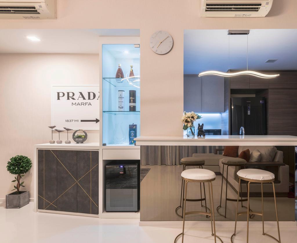 Contemporary, Condo, Dining Room, Foresque  Residence, Interior Designer, Space Define Interior