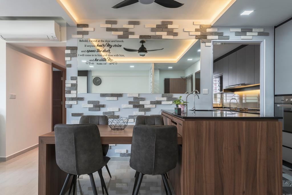 Contemporary, HDB, Dining Room, Bukit Batok West Avenue 6, Interior Designer, The Interior Place