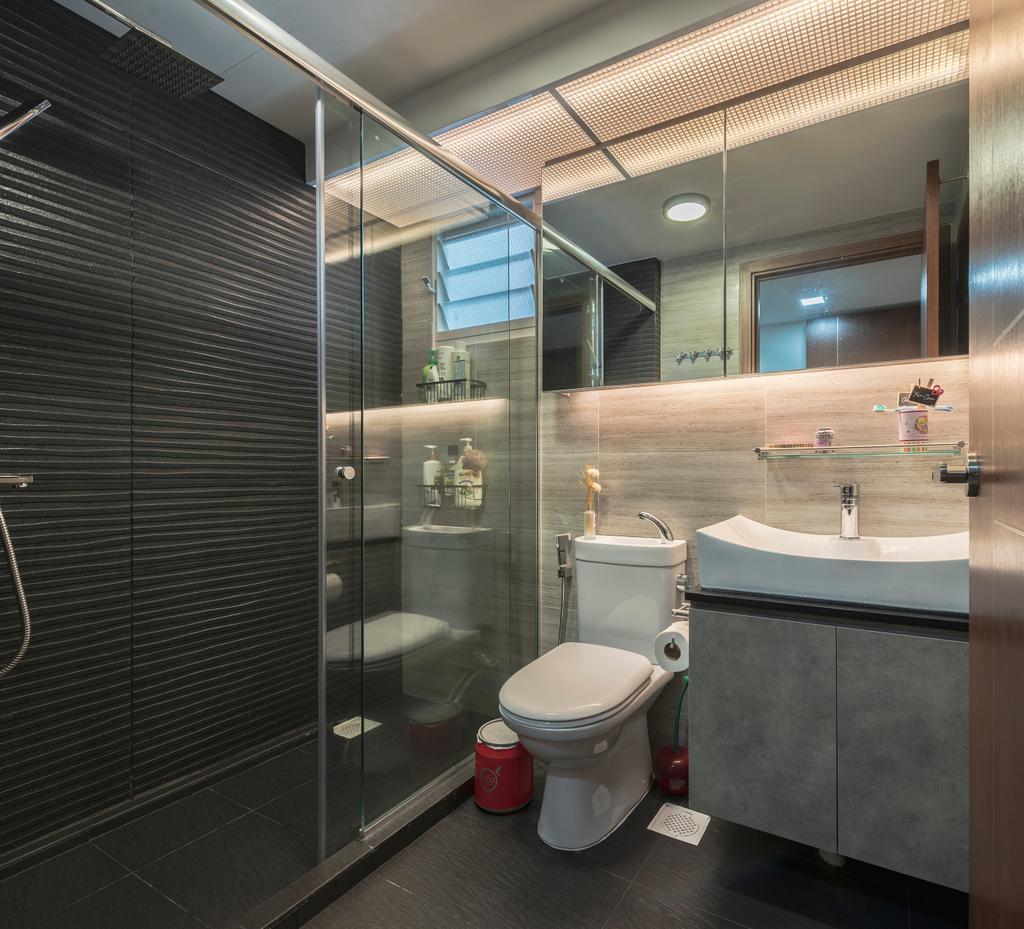 Contemporary, HDB, Bathroom, Bukit Batok West Avenue 6, Interior Designer, The Interior Place