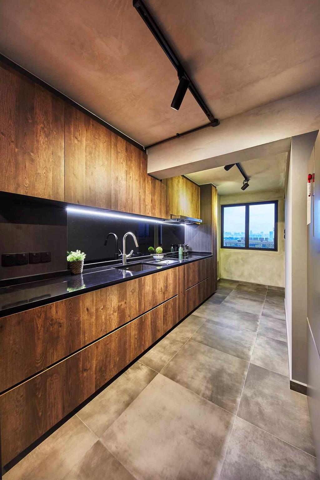 Industrial, HDB, Kitchen, Holland Avenue, Interior Designer, The Interior Lab