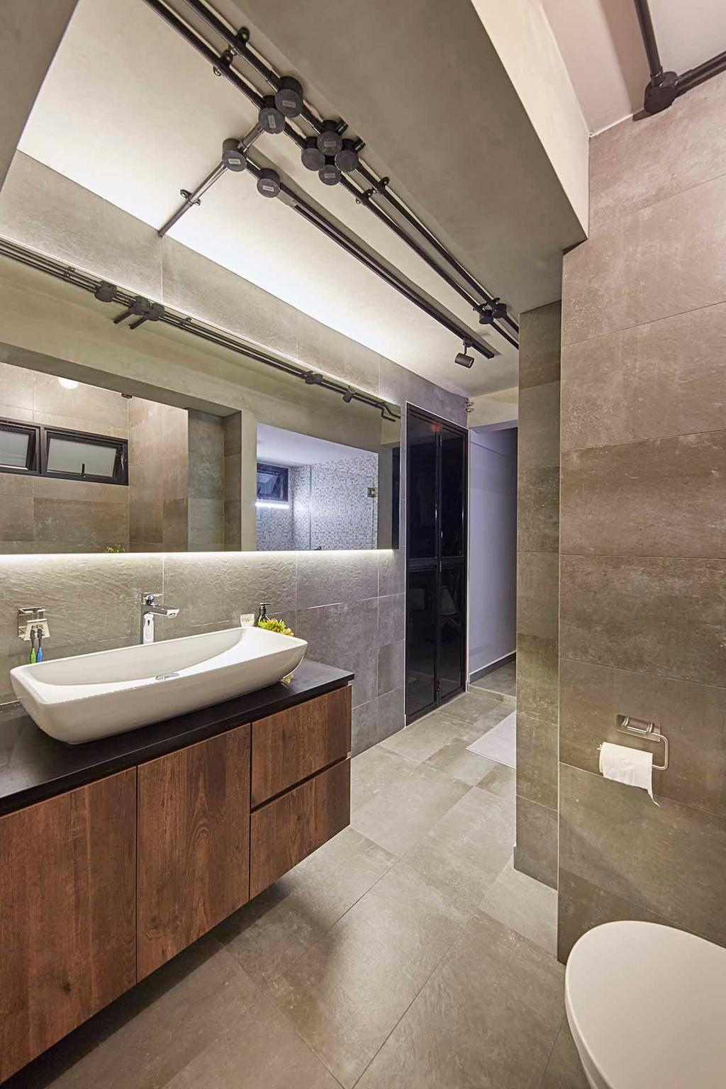 Industrial, HDB, Bathroom, Holland Avenue, Interior Designer, The Interior Lab