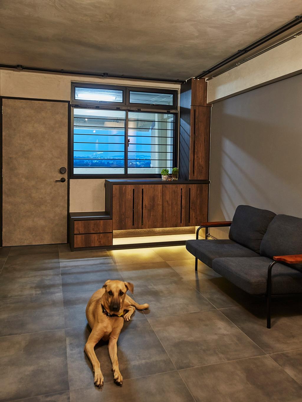 Industrial, HDB, Living Room, Holland Avenue, Interior Designer, The Interior Lab