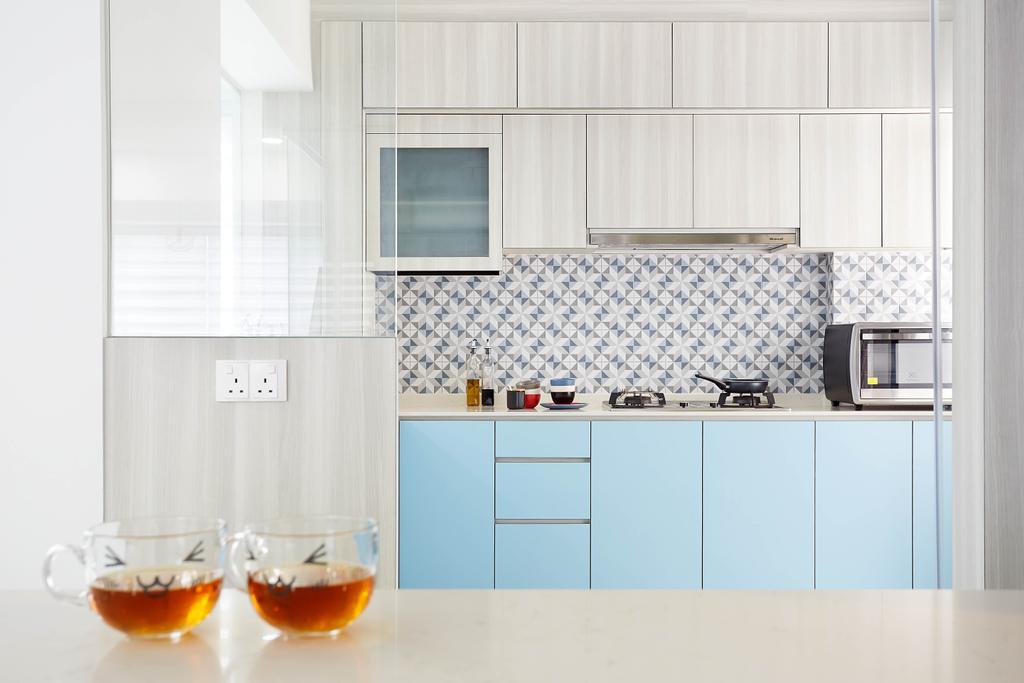 Contemporary, HDB, Kitchen, Woodlands Avenue 5, Interior Designer, D5 Studio Image, Scandinavian