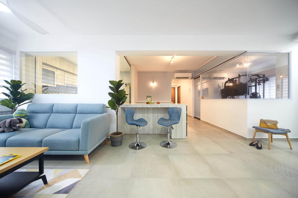 Contemporary, HDB, Living Room, Woodlands Avenue 5, Interior Designer, D5 Studio Image, Scandinavian