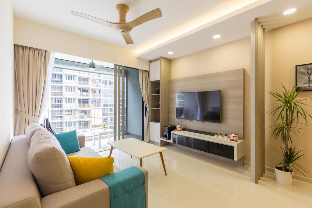 Contemporary, Condo, Living Room, Sol Acres, Interior Designer, AgcDesign