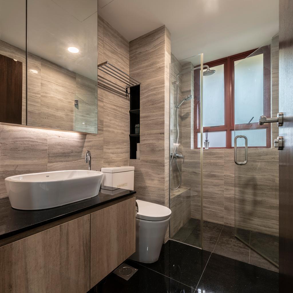 Contemporary, Condo, Bathroom, Palm Haven, Interior Designer, Escapade Studios