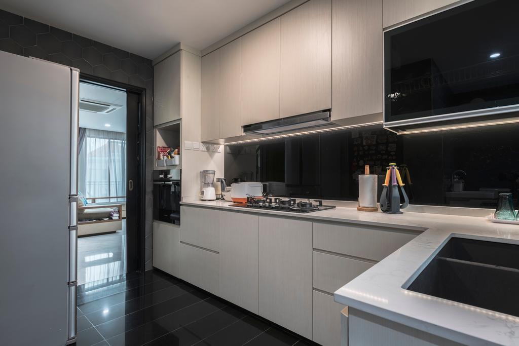 Contemporary, Condo, Kitchen, Palm Haven, Interior Designer, Escapade Studios
